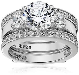 Swarovski Sterling Silver Zirconia Insert Ring Set