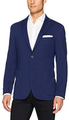 Bugatchi Men's Polyester Blend Solid Knitted Blazer