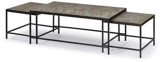 Regina-Andrew Design Asst. of 3 Herringbone Coffee Tables - Black - Regina Andrew Design