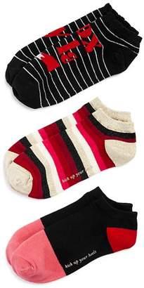 Kate Spade Foxy Lady No-Show Socks, Set of 3