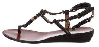 Lanvin Chain-Link Thong Sandals
