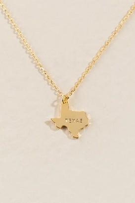 francesca's Texas Pendant Necklace in Gold - Gold