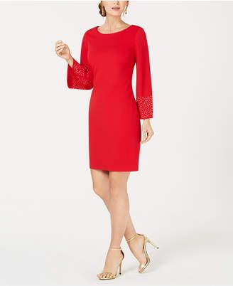 Jessica Howard Long-Sleeve Shift Dress