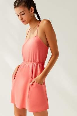 Urban Renewal Vintage Remnants Strappy Linen Mini Dress