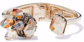 Lanvin Gold-Tone Crystal Cuff