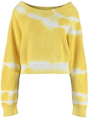 MSGM Tie-dye Effect Off-the-shoulder Sweater