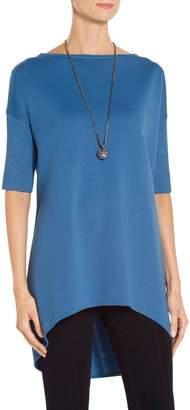 St. John Milano Knit Dolman Sleeve Tunic