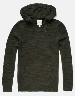 Birch Black Pancho Olive Mens Hooded Sweater