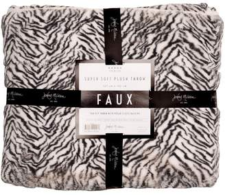 Faux Zebra Throw