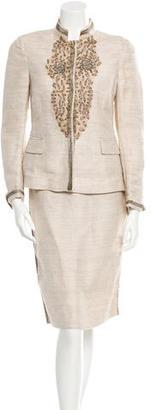 Alberta Ferretti Linen Skirt Suit $110 thestylecure.com