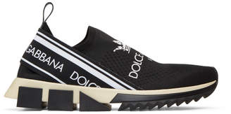 Dolce & Gabbana Black Logo Sorrento Sneakers