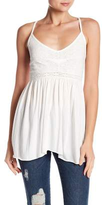 Melrose and Market Embroidered Knit Cami