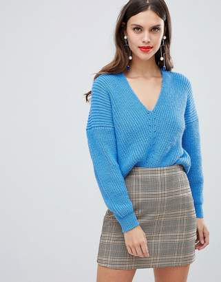 Asos (エイソス) - ASOS DESIGN v neck sweater in moving rib