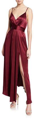 Shona Joy Gisele V-Neck Sleeveless Tie-Waist Dress
