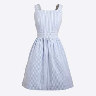 J.Crew Factory Seersucker apron dress