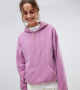 Reclaimed Vintage inspired oversized hoodie in purple