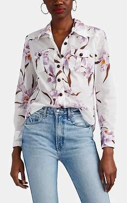 Zimmermann Women's Orchid-Print Cotton Voile Blouse