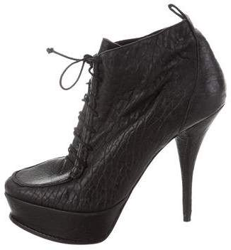 Elizabeth and James Leather Platform Ankle Boots