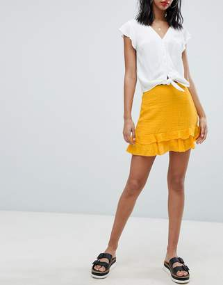 Missguided Frill Mini Skirt