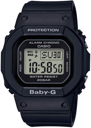 Baby-G Women's Digital Black Resin Strap Watch 40mm