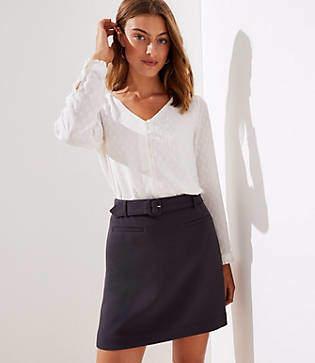 LOFT Belted Skirt