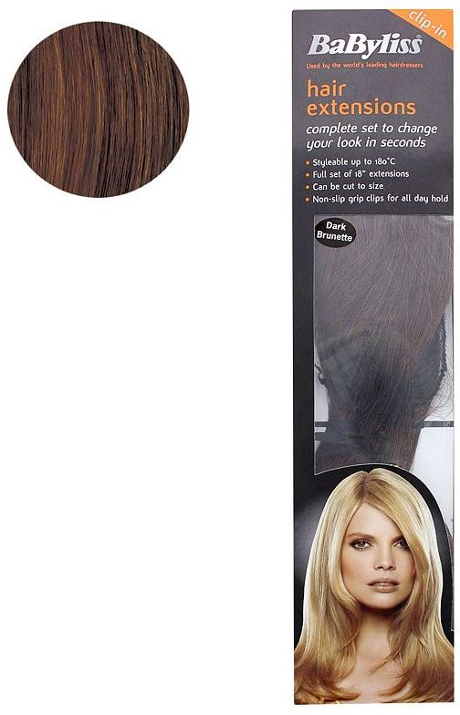 BaByliss® Styleable Hair Extensions - Dark Brunette