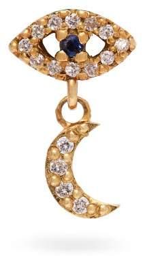 Ileana Makri 18kt Gold, Sapphire And Diamond Drop Earring - Womens - Gold