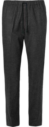 Dries Van Noten Wool-Flannel Drawstring Trousers
