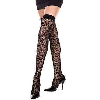 262aae94b6177 Music Legs Women's Lace Thigh Hi 3/4 Sleeveless Tights,(Manufacturer Size: