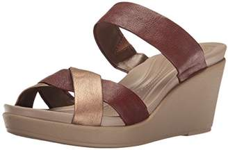 Crocs Women's Leighann Leather Wedge Sandal