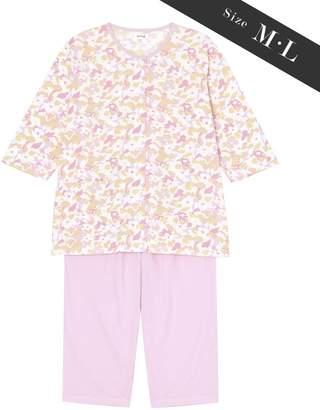 Wing 【お値打ち品パジャマ】綿100%抽象花柄 ウイング/ワコール(C)FDB