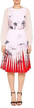Ted Baker Prticha Lake of Dreams Pleated Dress