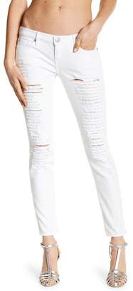 True Religion Casey Ripped Low Rise Super Skinny Jeans