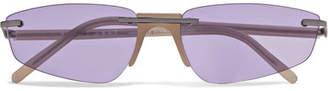 Ophelia Andy Wolf Cat-eye Acetate Sunglasses - Purple