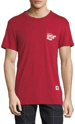 G Star G-Star Men's Uniform of the Free Pocket T-Shirt, Red