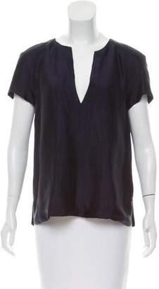 Wes Gordon Silk Short Sleeve Top