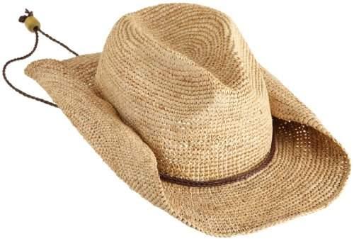 San Diego Hat Company Women's Crocheted Raffia Cowboy Hat