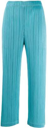 Pleats Please Issey Miyake cropped pull-on trousers