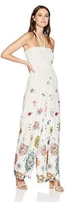 Desigual Women's Kleid Dream Party Dress, White 1000, Small