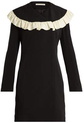 Emilia Wickstead Lisbet Ruffled Bib Crepe Cady Dress - Womens - Black White