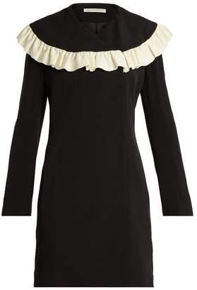 Emilia Wickstead Lisbet Ruffled Bib Crepe Cady Dress - Womens - Black White