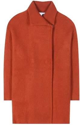 Diane von Furstenberg Avril wool, cashmere and angora-blend coat