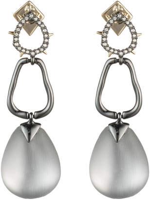 Alexis Bittar Crystal Encrusted Link Drop Post Earring