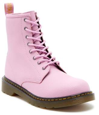 Dr. Martens Delaney Pebbled Mallow Air Wair Boot (Big Kid)