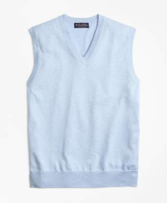 Brooks Brothers Supima Cotton V-Neck Sweater Vest