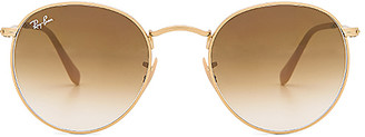 Ray-Ban Round Metal in Metallic Gold. $165 thestylecure.com