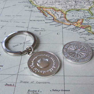 Tales From The Earth Sterling Silver Travel Keyring