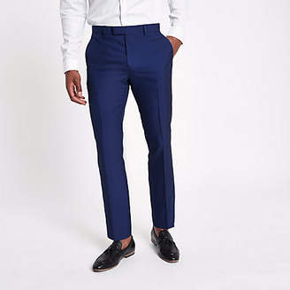 River Island Bright blue slim fit suit pants