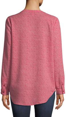 Joie Daryn Long-Sleeve Floral-Print Blouse