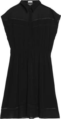 Claudie Pierlot Chiffon-paneled Crepe Shirt Dress